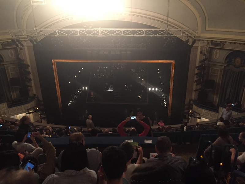 Seating view for Ambassador Theatre Section Rear Mezz Row F Seat 122