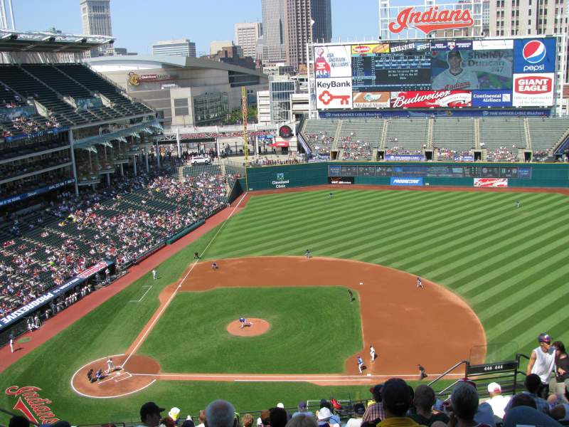 Seating view for Progressive Field Section 546 Row M Seat 19
