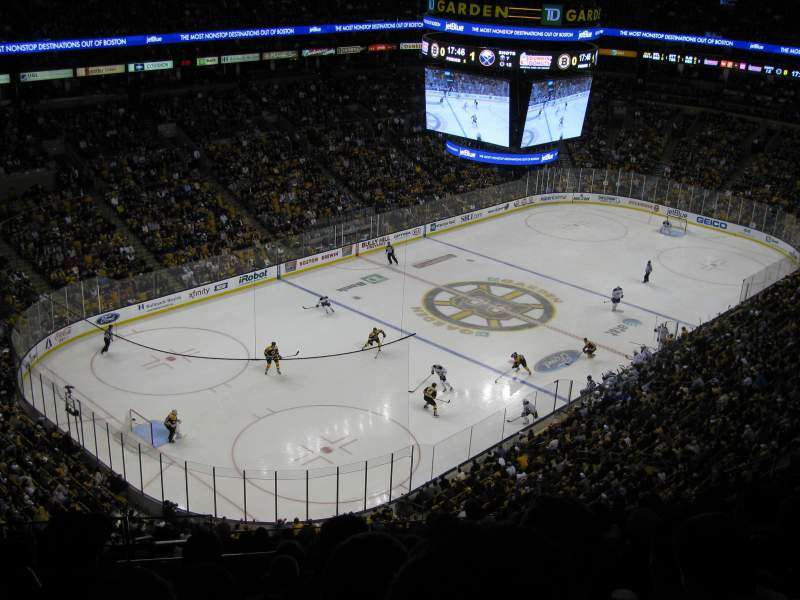 Seating view for TD Garden Section Bal 305 Row 14 Seat 15