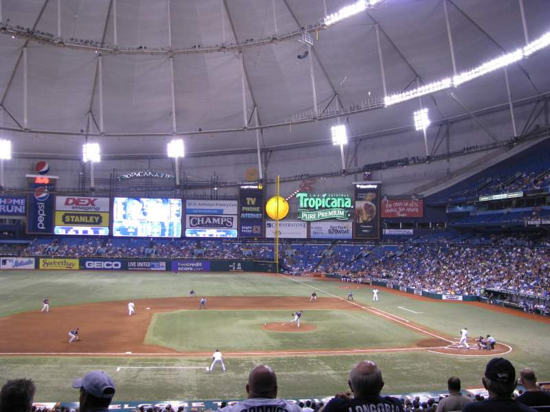 Seating view for Tropicana Field Section 115 Row PP Seat 4