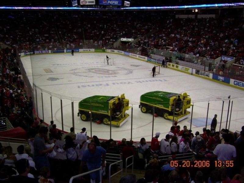 Seating view for PNC Arena Section 113 Row V