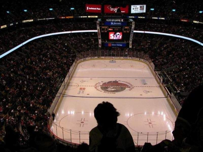 Seating view for Canadian Tire Centre Section 315 Row P