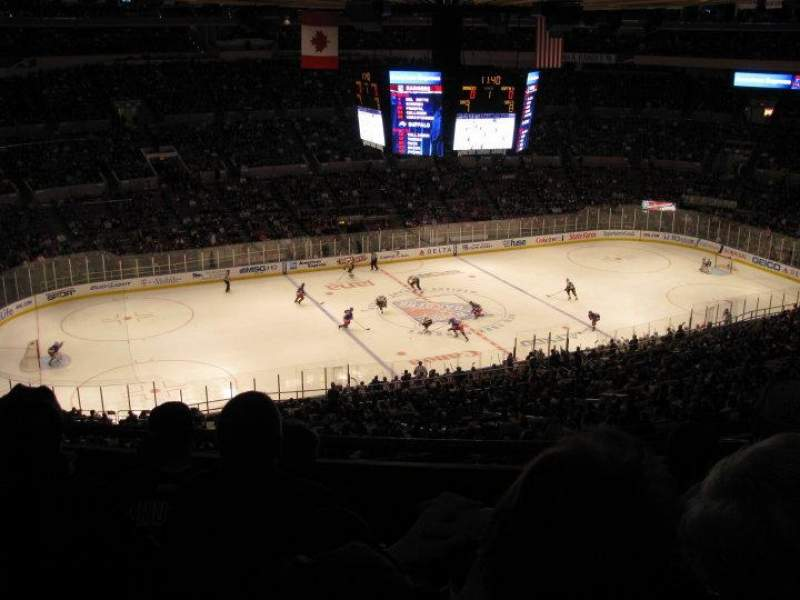 Madison Square Garden Section 426 Row D New York Rangers Vs Buffalo Sabres Shared By
