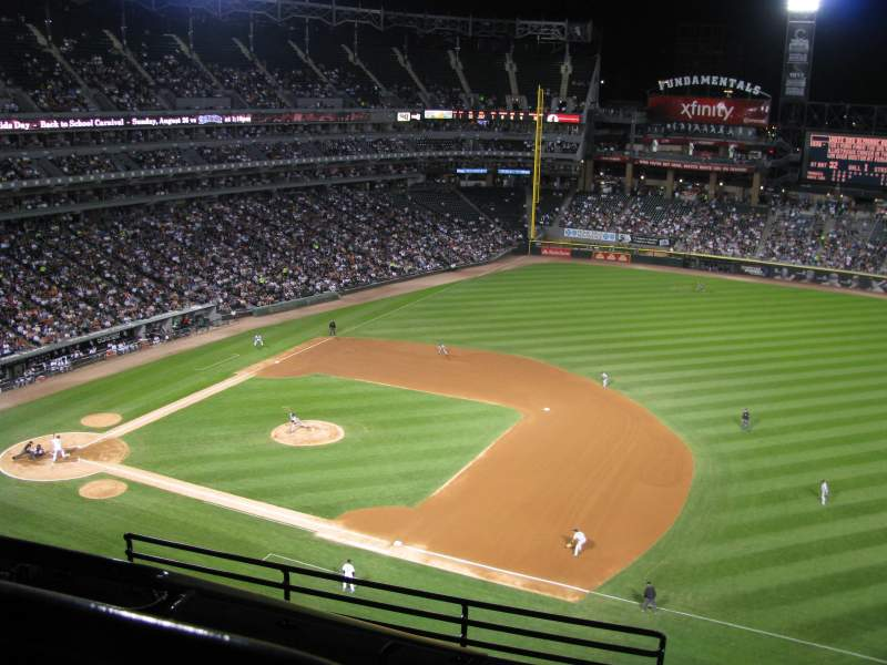 Seating view for Guaranteed Rate Field Section 520 Row 7 Seat 20