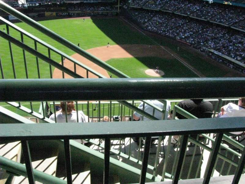 Seating view for Miller Park Section 430 Row 8 Seat 19