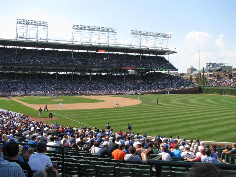 Wrigley Field, section 240, home of Chicago Cubs