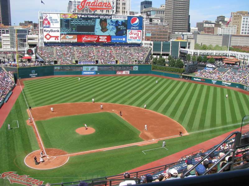 Seating view for Progressive Field Section 551 Row E Seat 6