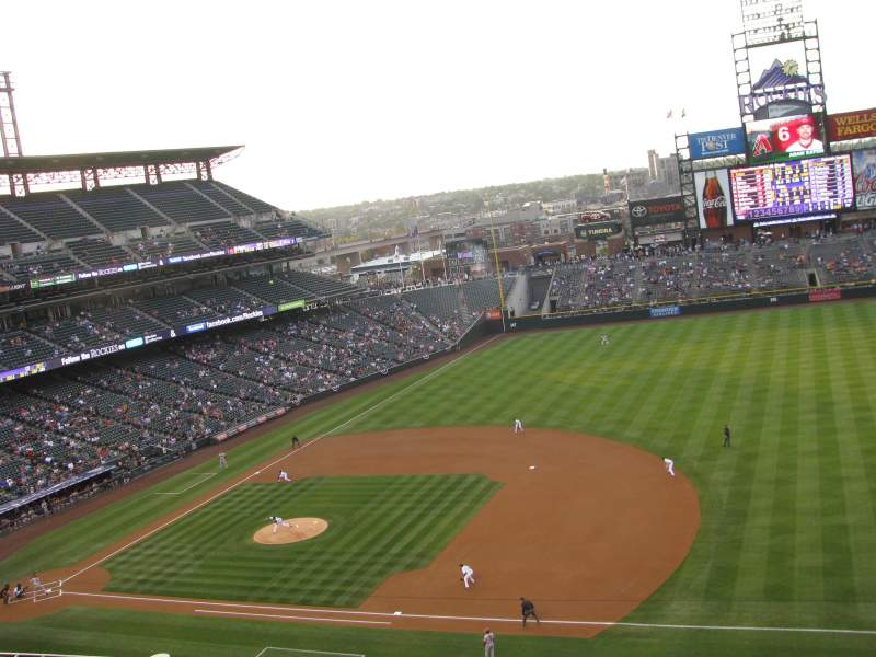 Seating view for Coors Field Section L319 Row 2 Seat 12