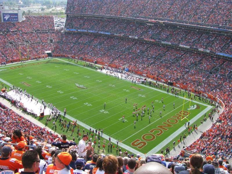 Seating view for Sports Authority Field at Mile High Section 527 Row 18 Seat 19