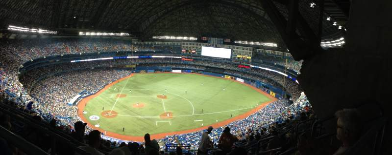 Seating view for Rogers Centre Section 519L Row 21 Seat 106