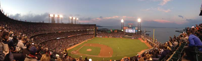 Seating view for AT&T Park Section 307 Row 8 Seat 18