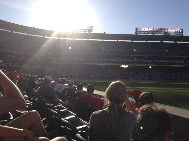Seating view for Angel Stadium Section F131 Row C Seat 16