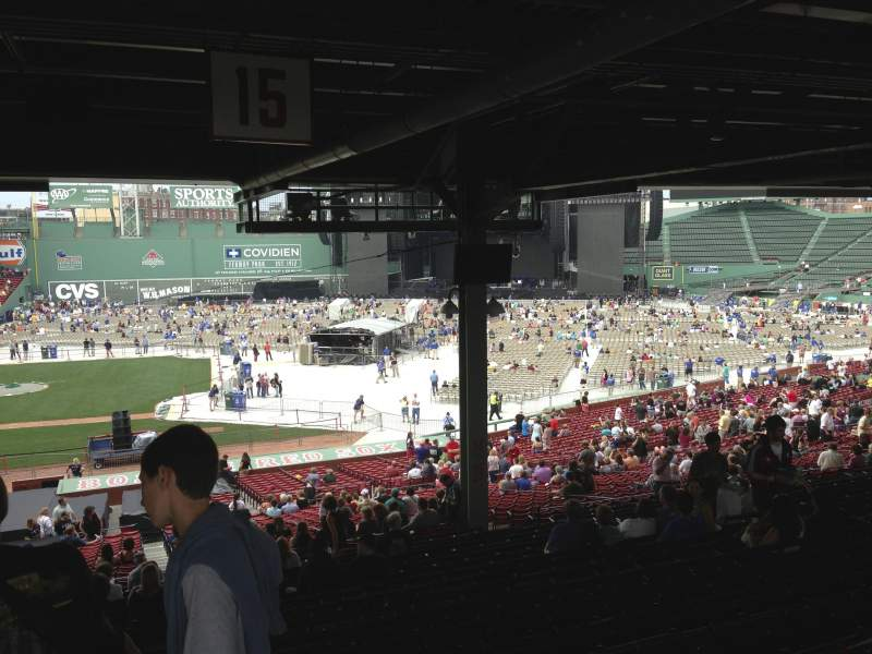 Seating view for Fenway Park Section Grandstand 15 Row 19 Seat 15
