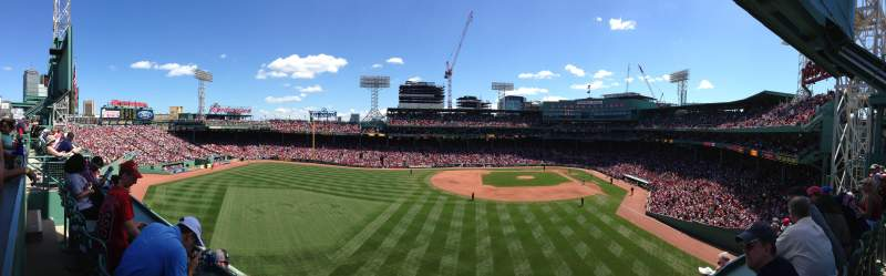 Seating view for Fenway Park Section Green Monster 2 Row SRO