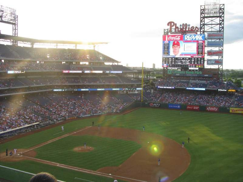Seating view for Citizens Bank Park Section 313 Row 3