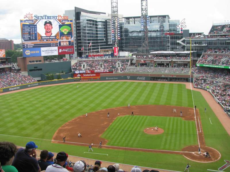 Seating view for SunTrust Park Section 330 Row 10 Seat 2