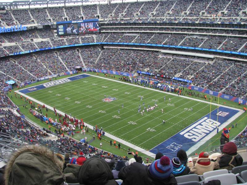 Seating view for MetLife Stadium Section 332 Row 15 Seat 10