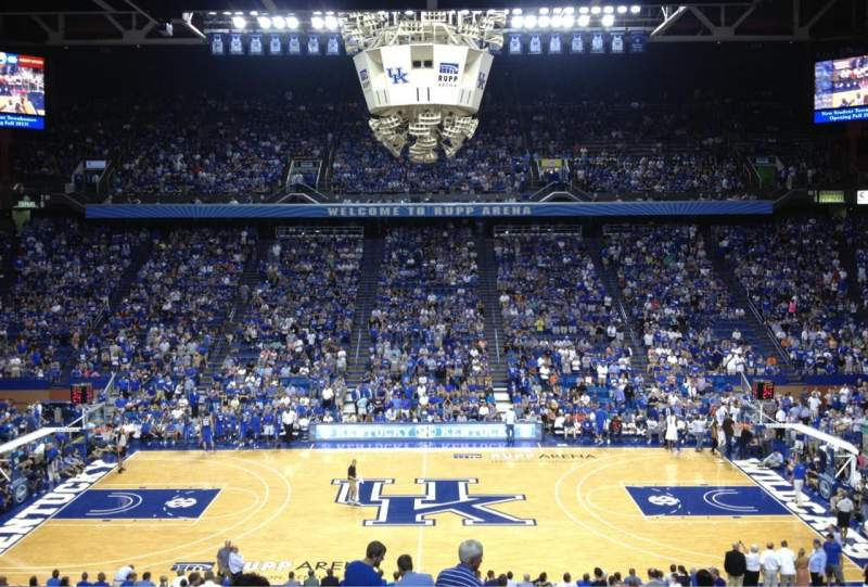 Seating view for Rupp Arena Section 14 Row X Seat 6
