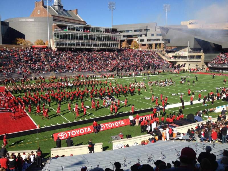 Seating view for Nippert Stadium Section 110 Row 31 Seat 39
