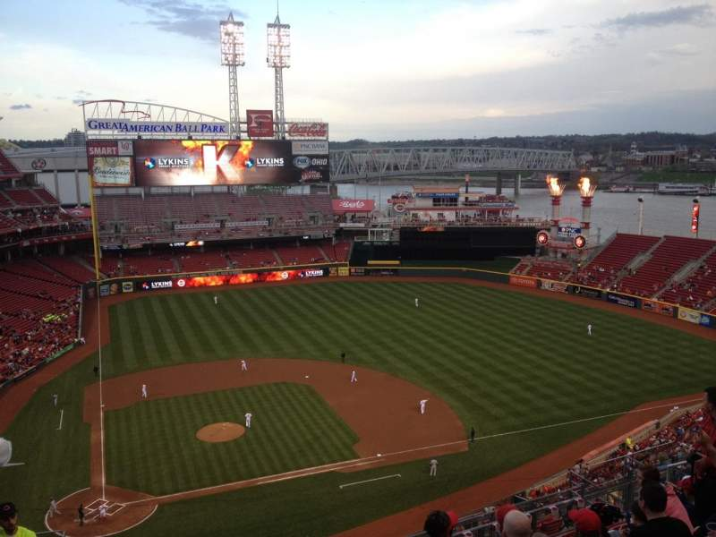 Seating view for Great American Ball Park Section 528 Row J Seat 18