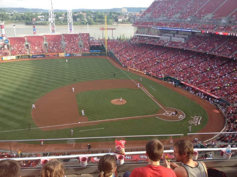 Seating view for Great American Ball Park Section 517 Row D Seat 14