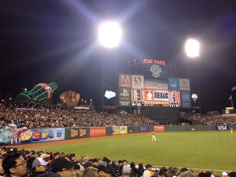 Seating view for AT&T Park Section 129 Row 13 Seat 7