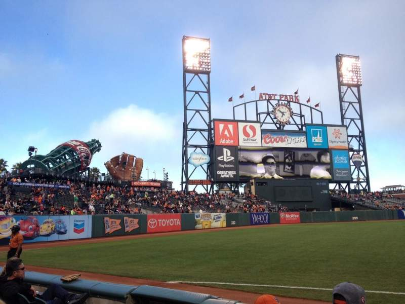 Seating view for AT&T Park Section 129 Row 4 Seat 12