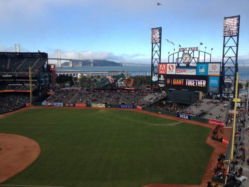 Seating view for Oracle Park Section VR302 Row 7 Seat 7