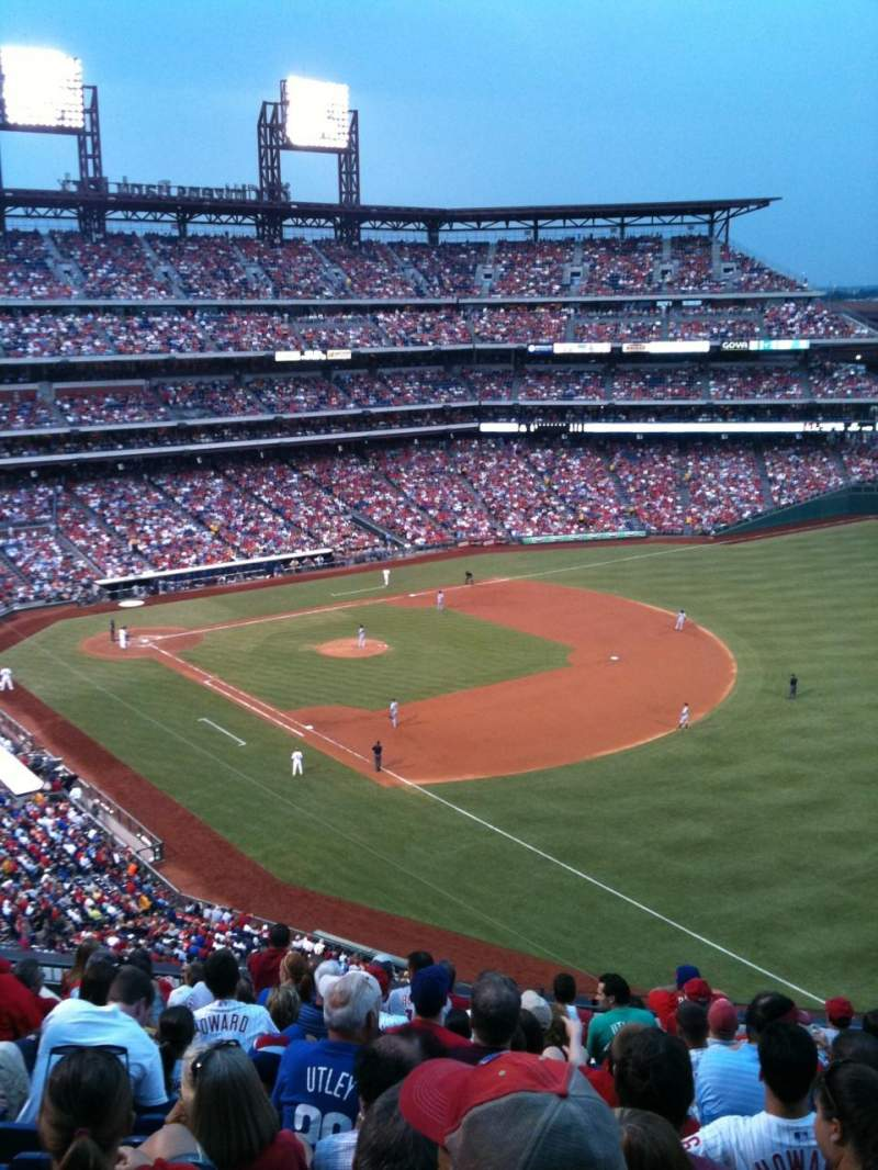 Seating view for Citizens Bank Park Section 309 Row 12 Seat 13