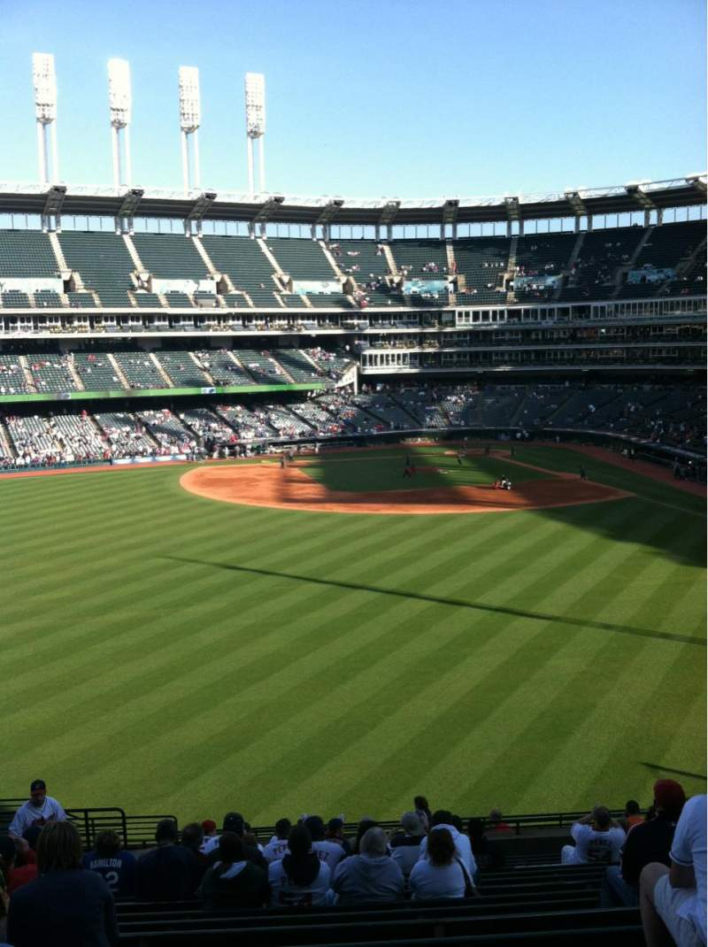 Seating view for Progressive Field Section 182 Row U Seat 20