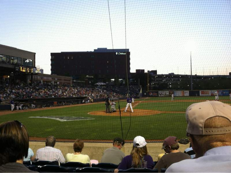 Seating view for Canal Park Section 105 Row G Seat 7