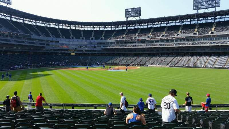 Seating view for U.S. Cellular Field Section 102 Row 16 Seat 5