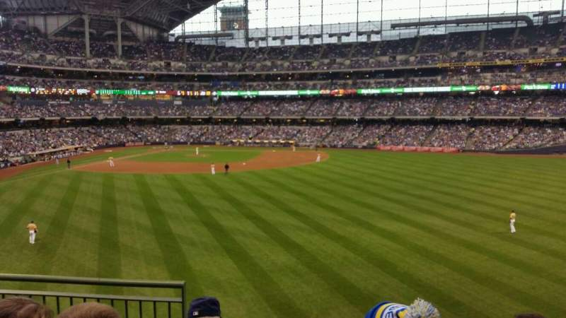 Seating view for Miller Park Section 201 Row 4 Seat 3