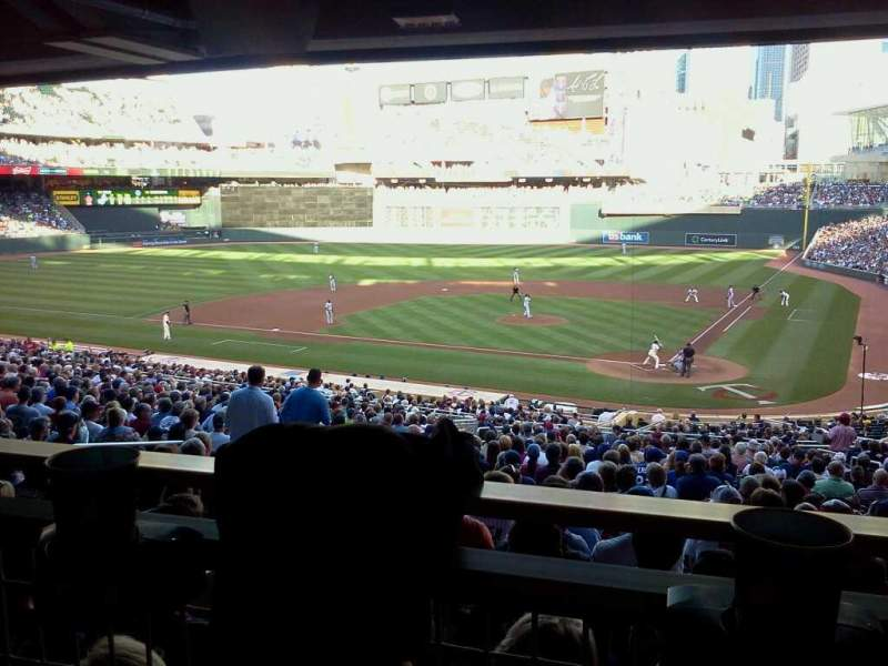 Seating view for Target Field Section 117 Row WC Seat 7