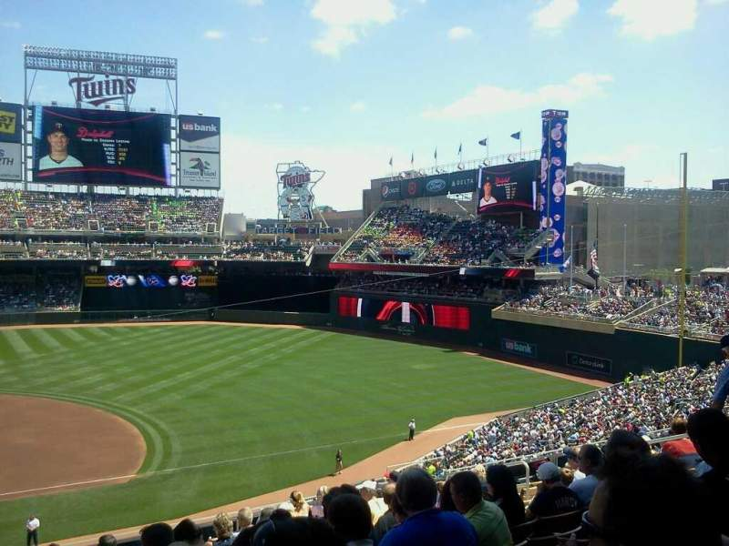 Seating view for Target Field Section B Row 11 Seat 13