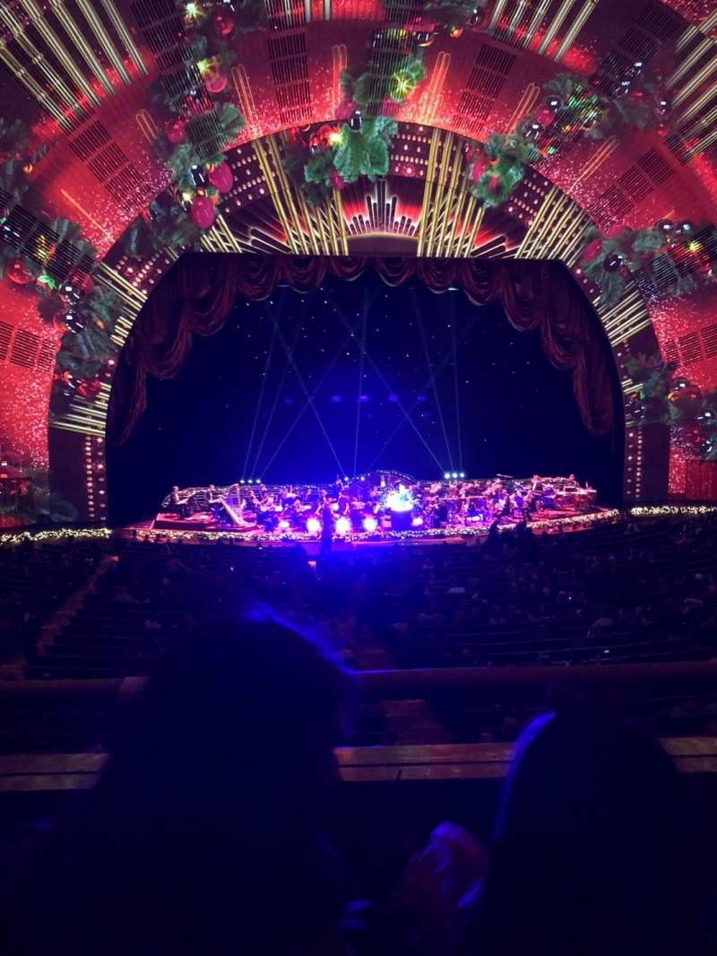 Seating view for Radio City Music Hall Section 1st mezzanine 5 Row B Seat 507