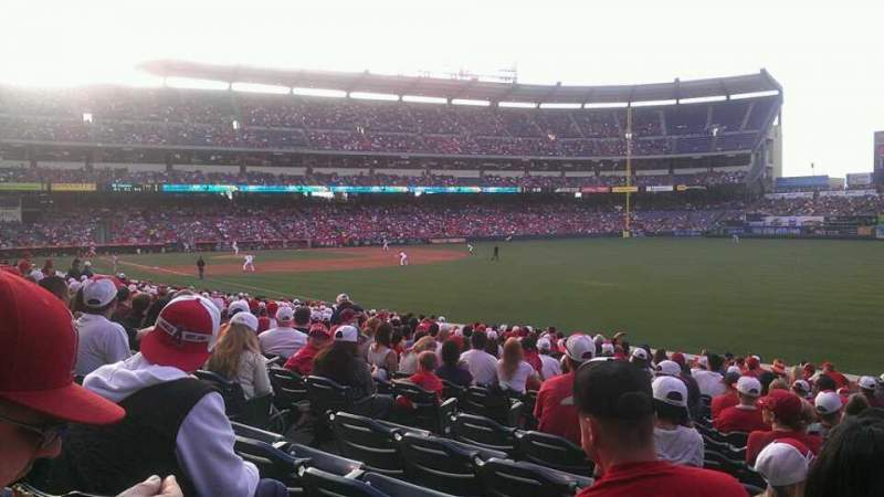 Seating view for Angel Stadium Section F132 Row u Seat 6