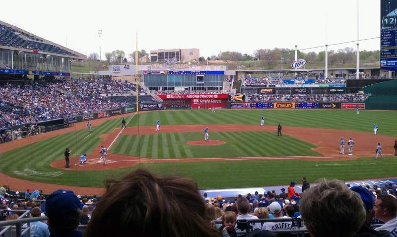 Seating view for Kauffman Stadium Section 232 Row gg Seat 1