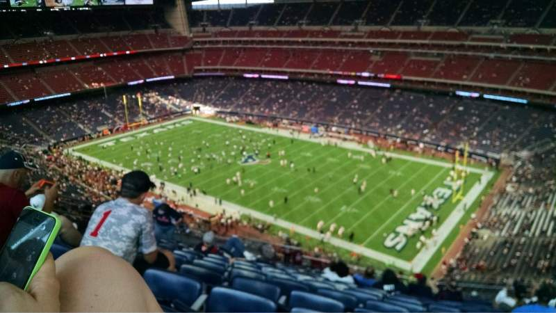 Seating view for NRG Stadium Section 603 Row P Seat 16