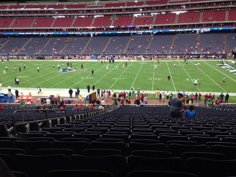 Seating view for NRG Stadium Section 104 Row J Seat 5
