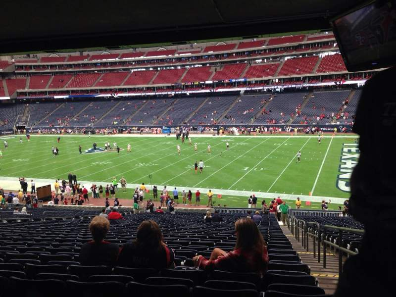 Seating view for NRG Stadium Section 103 Row JJ Seat 23