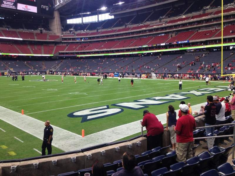 Seating view for NRG Stadium Section 139 Row G Seat 1