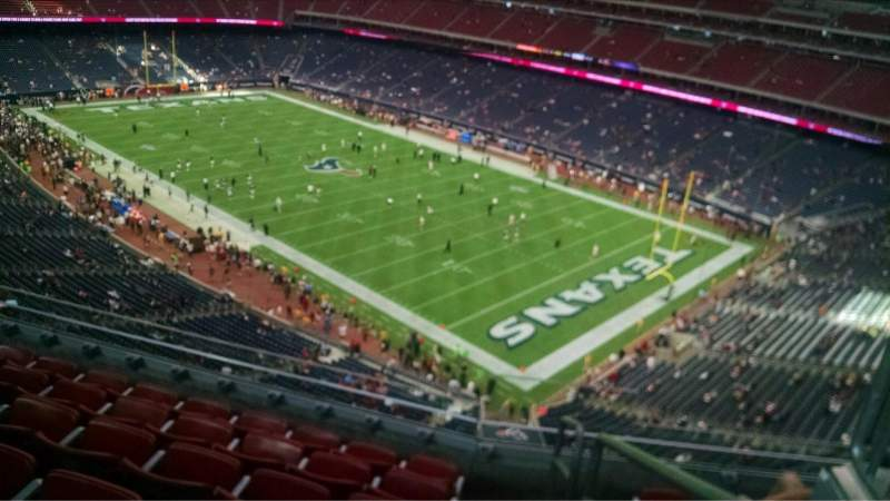 Seating view for NRG Stadium Section 502 Row M Seat 1