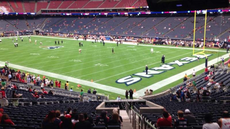 Seating view for NRG Stadium Section 121 Row JJ Seat 1