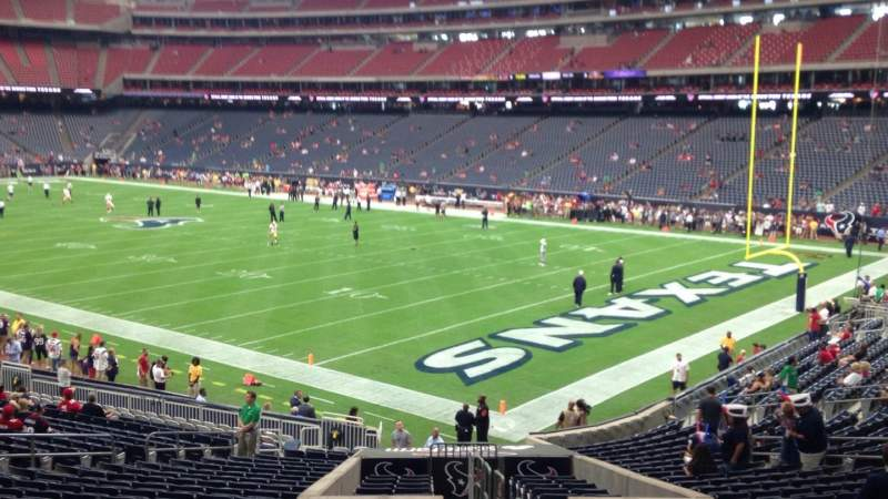 Seating view for NRG Stadium Section 121 Row CC Seat 1