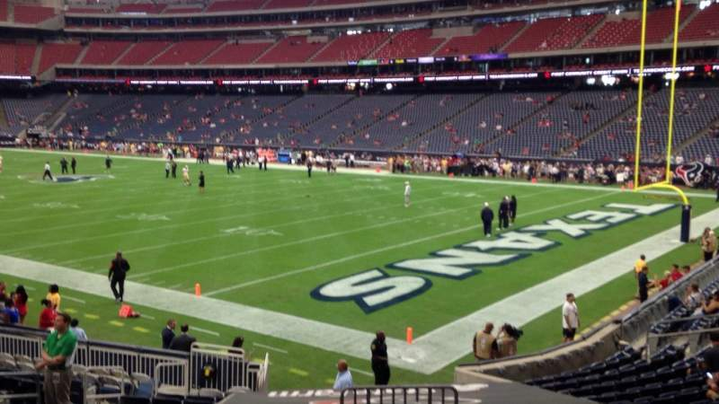 Seating view for NRG Stadium Section 121 Row S Seat 1