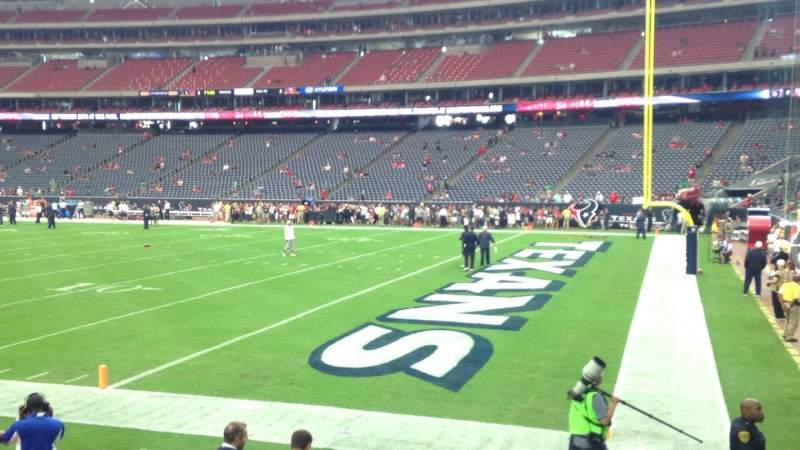 Seating view for NRG Stadium Section 122 Row F Seat 1