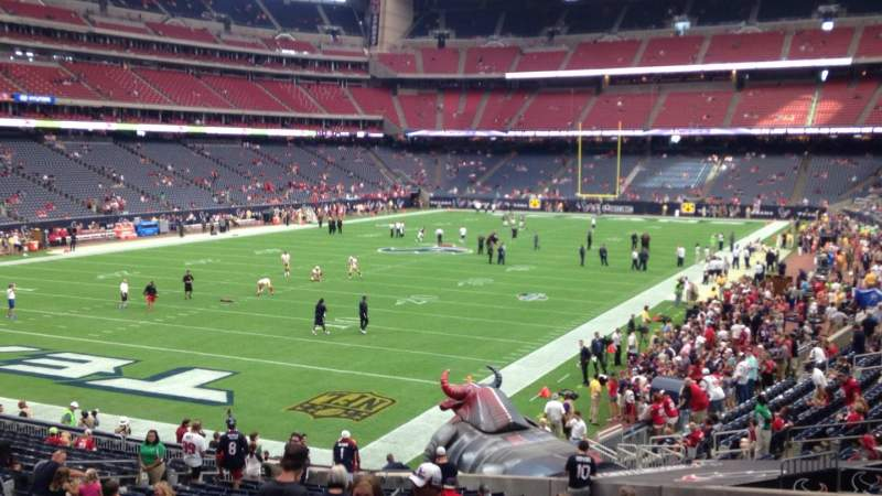 Seating view for NRG Stadium Section 113 Row BB Seat 23