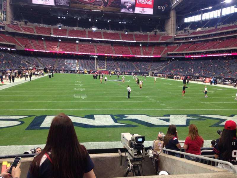 Seating view for NRG Stadium Section 137 Row J