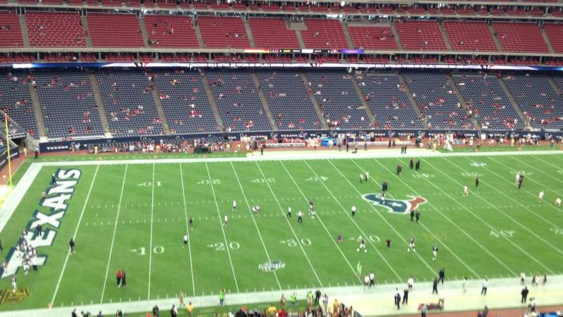 NRG Stadium, section: 511, row: M, seat: 1